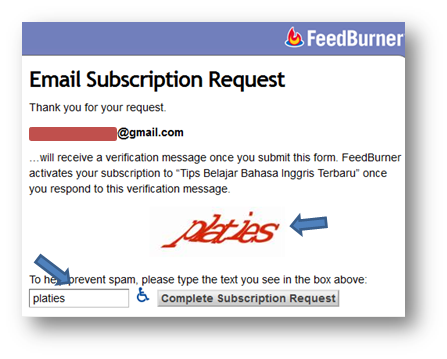 form Email Subscription Request